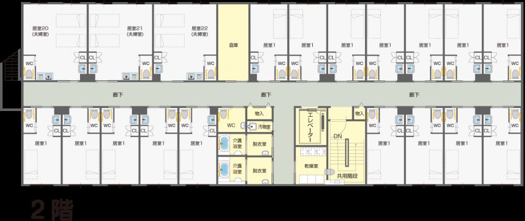 館内配置図2階